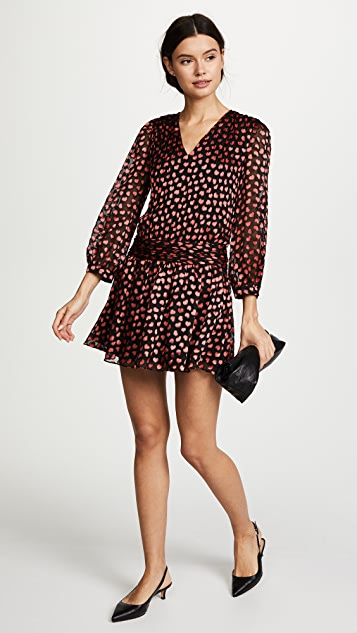 alice + olivia Tessie Drop Waist Dress