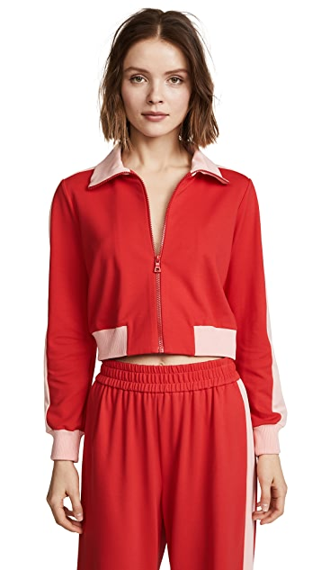 alice + olivia AIR Jackson Cropped Track Jacket