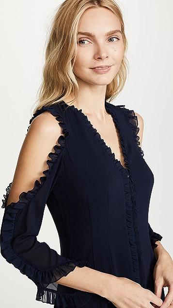 alice + olivia Claudie Ruffle Dress