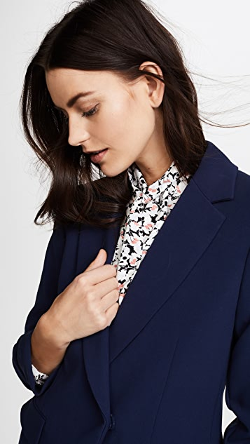 alice + olivia Helena Scrunched Sleeve Blazer