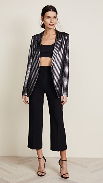 alice + olivia Lorinda Super High Waisted Cropped Pants