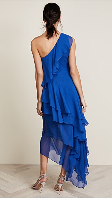 alice + olivia Alanis Ruffle Gown