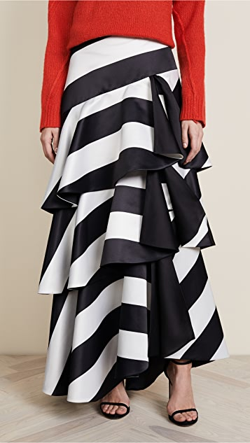 alice + olivia Floria Ruffle Ball Gown Skirt