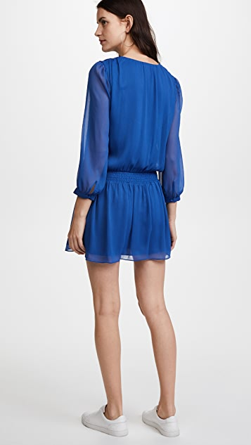 alice + olivia Adaline Smock Waist Dress