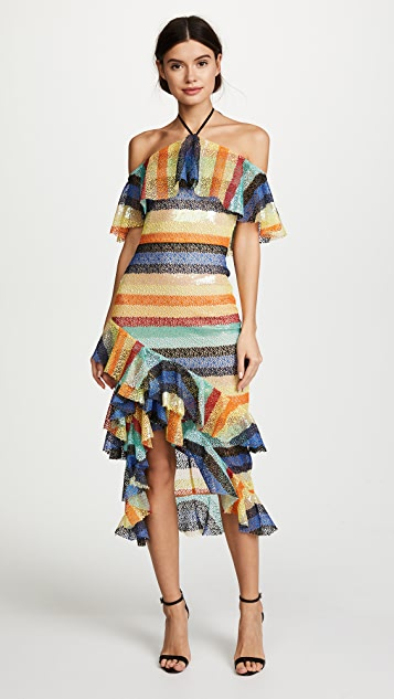 alice + olivia Annabeth Off Shoulder Dress