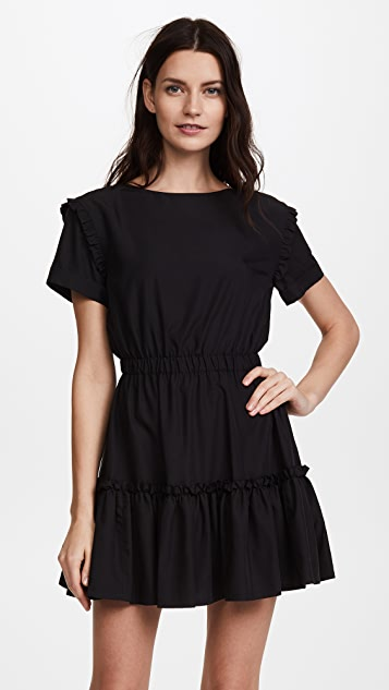alice + olivia Garner Drop Shoulder Dress