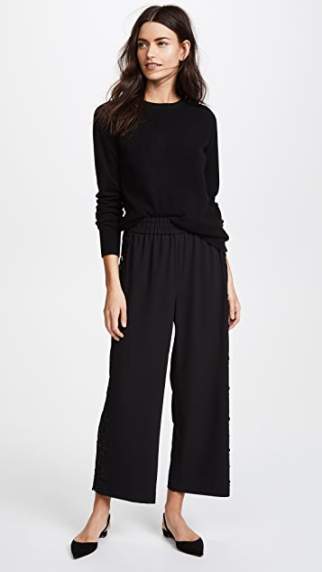 alice + olivia Benny Cutout Cropped Pants