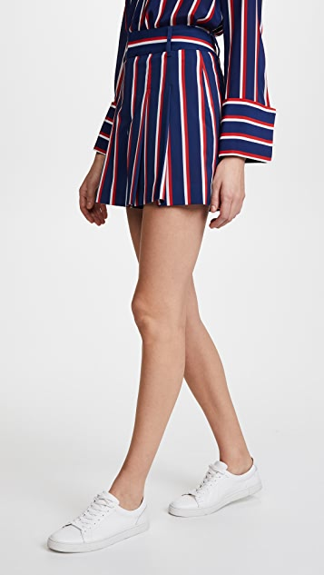 alice + olivia Scarlet Super High Waisted Flutter Shorts
