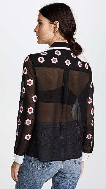 alice + olivia Willa Embroidered Top
