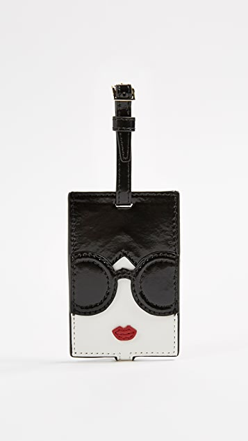 alice + olivia Bibi Stace Face Luggage Tag