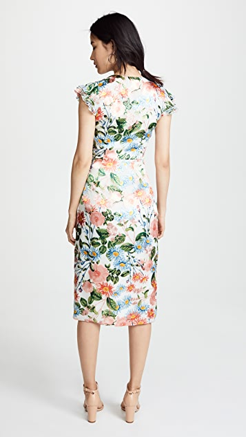 alice + olivia Garnet Flutter Sleeve Dress
