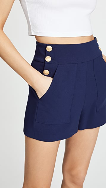 alice + olivia Donald Button Shorts
