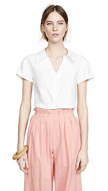 alice + olivia Margaret Button Down Shirt