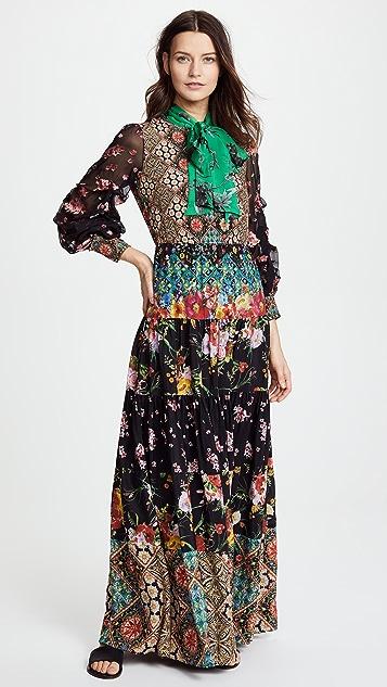 alice + olivia Clementine Maxi Dress