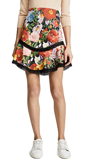 ... alice + olivia Eriko Curved Hem Skirt