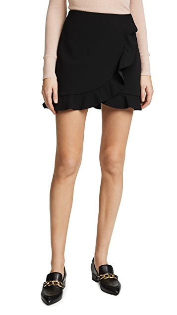 Lani Ruffle Skirt by Alice + Olivia