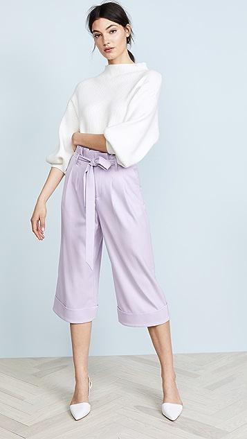 alice + olivia Ryan Paper Bag Pants