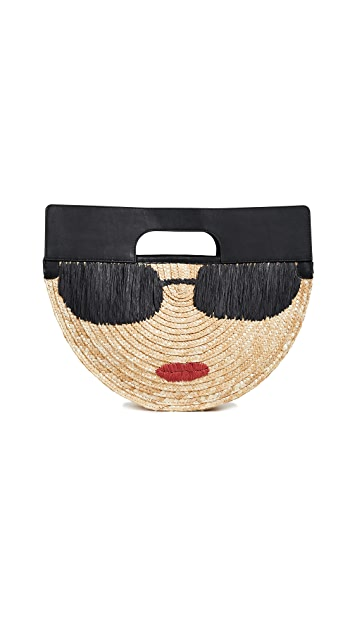 alice + olivia Donna Stace Face Half Circle Bag