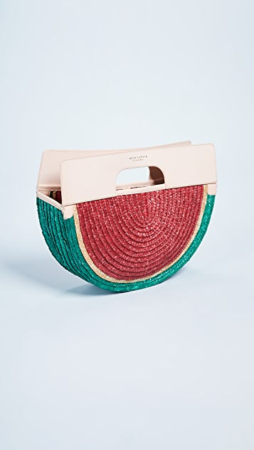 alice + olivia Donna Watermelon Half Circle Bag
