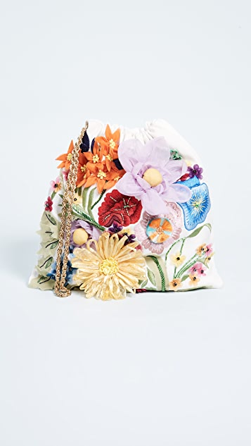 alice + olivia Odessa Embroidered Floral Pouch