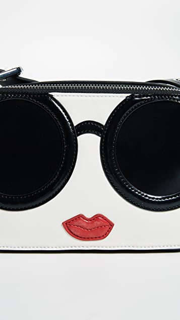 alice + olivia Kelly Stace Face Mini Cross Body Bag
