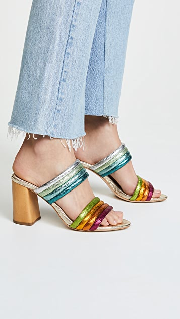 alice + olivia Lori Double Strap Sandals - Multi