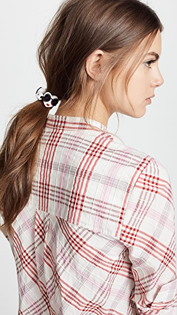alice + olivia Stace Face Heart Hair Tie