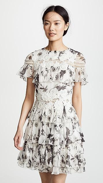 alice + olivia Paola Ruffle Dress