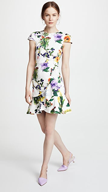 alice + olivia Kirby Ruffle Dress