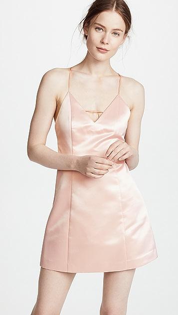 alice + olivia Pearl Deep V Lantern Dress