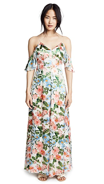 alice + olivia Alves Cold Shoulder Maxi Dress