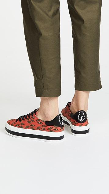 alice + olivia x Donald Robertson Ezra Cheetah Sneakers