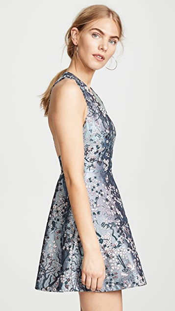 alice + olivia Tennie V Neck Party Dress