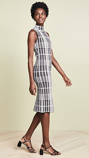 alice + olivia Hana Mock Neck Dress