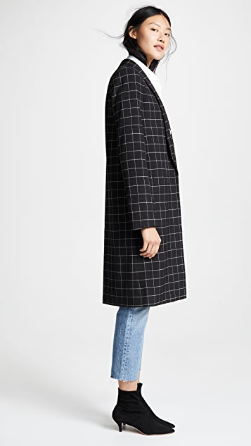 alice + olivia Kyle Long Collar Jacket