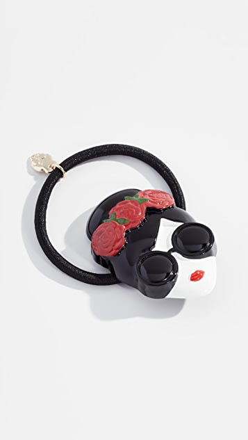 alice + olivia Stace Face Hair Tie with Flowers