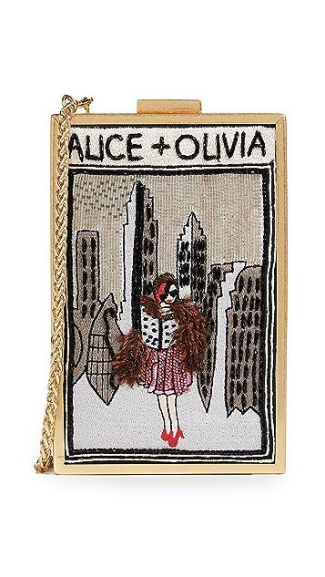 alice + olivia Sophia Vintage New York Clutch