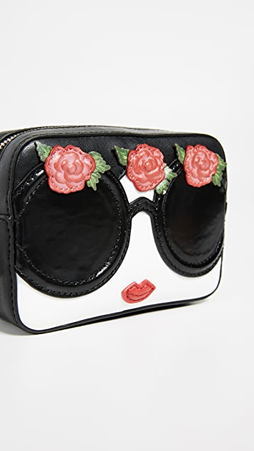 alice + olivia Ava Stace Face Flowers Travel Case