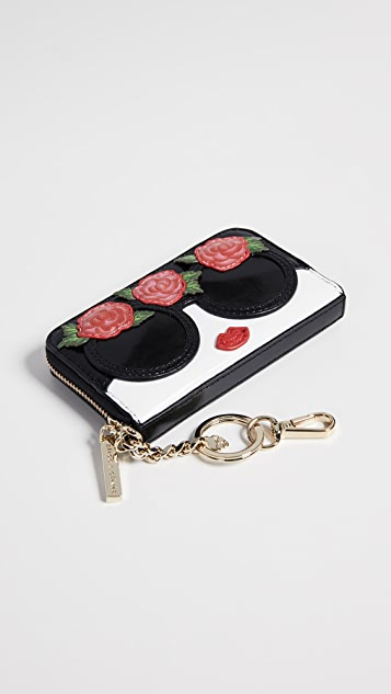 alice + olivia Avril Stace Face Wallet with Flowers