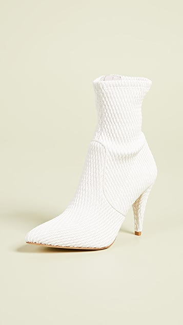 alice + olivia Hedde Stretch Pleather Booties
