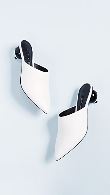 alice + olivia Chrysta Point Toe Mules