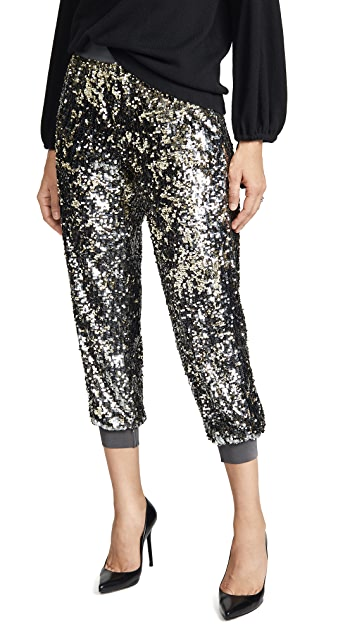 alice + olivia Pete Embellished Sweatpants