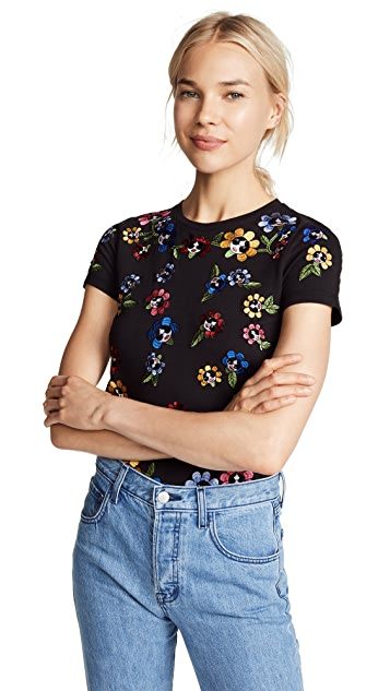alice + olivia Rylyn Embellished Tee