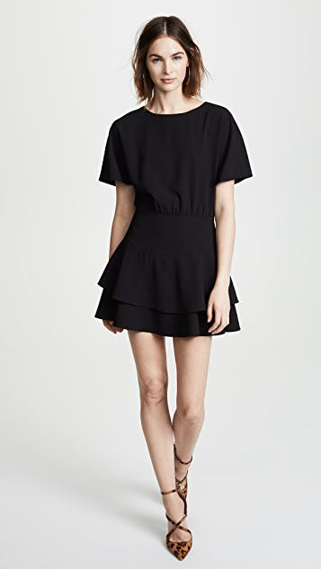 alice + olivia Palmira Tiered Ruffle Dress