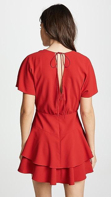 alice + olivia Palmira Tiered Ruffle Dress