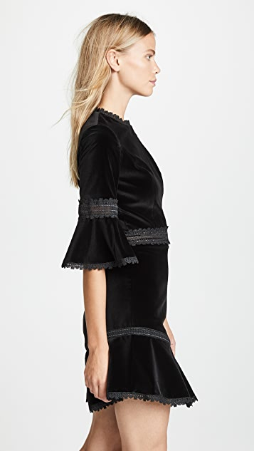 alice + olivia Doloris Flare Dress