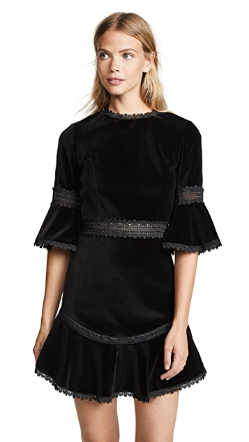 alice + olivia Doloris Flare Dress