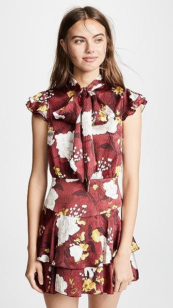 alice + olivia Lashay Ruffle Dress