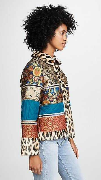 alice + olivia Glennie Patchwork Jacket