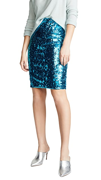 alice + olivia Ramos Fitted Skirt
